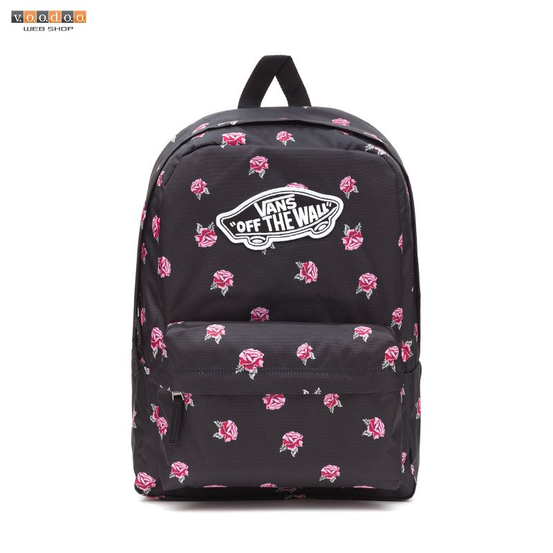 VANS REALM BACKPACK BLACK ROSE