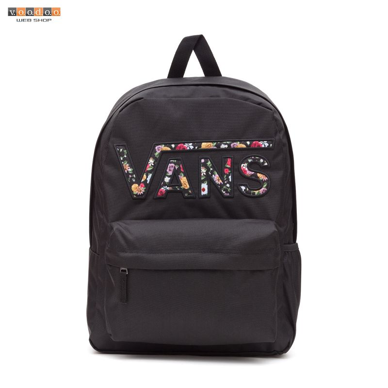 VANS REALM FLYING V BACKPACK BLK MIX FLORAL