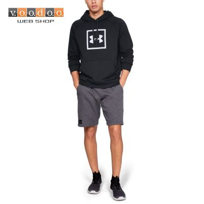 UNDER ARMOUR MAJICA RIVAL FLEECE LOGO BLACK