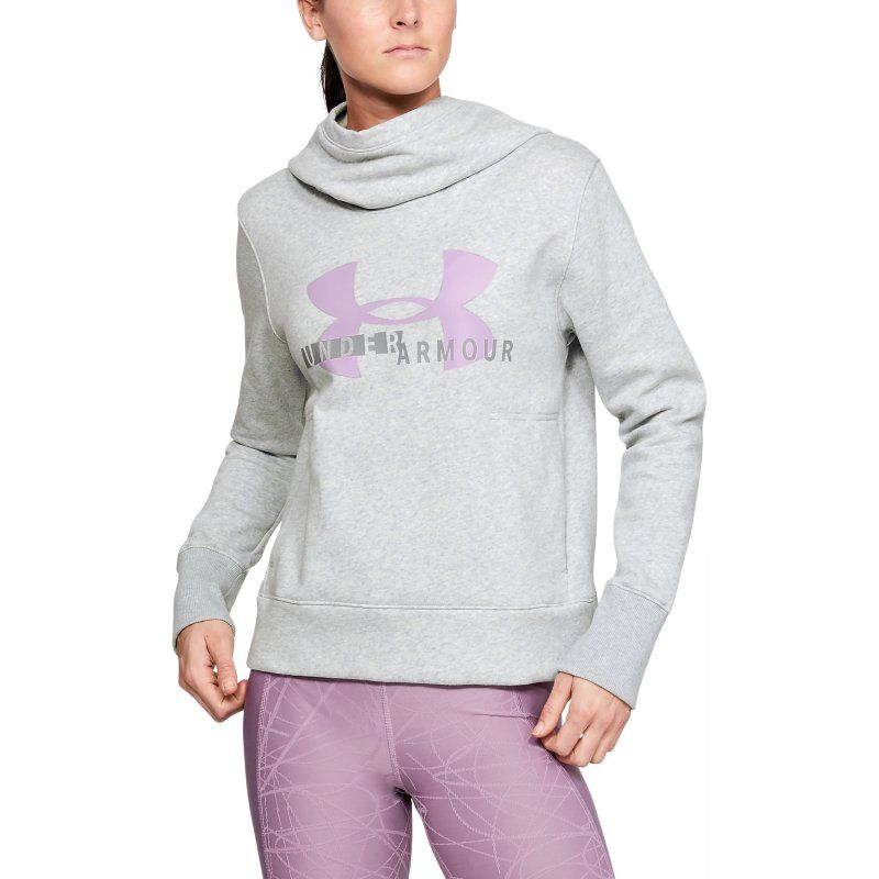 UNDER ARMOUR COTTON FLEECE LOGO MAJICA GREY
